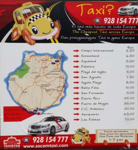 Gran-Canaria-Taxi-prijzen