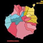Gran Canaria zones en gemeenten