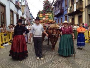 Feest in de straten van Teror op Gran Canaria