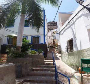 Puerto de Mogan en de oude huizen