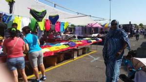 Markt in de shoppingstad Vecindario