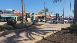 Standplaats voor taxi's aan Anexo en het strand van Playa del Ingles