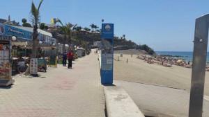 Boulevard en strand van Meloneras op Gran Canaria