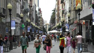 Gezellig winkelen in de Calle Triana in Las Palmas