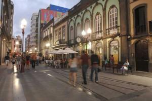 Avondshopping op Calle Triana in Las Palmas