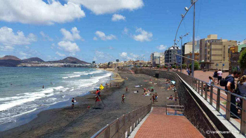Playa Las Canteras in Las Palmas op GRan Canaria