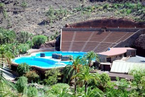Amfitheater en dolfijnenshow Palmitos park