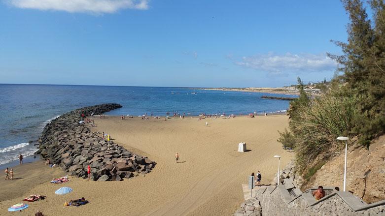 Im Urlaub am Strand von Playa del Ingles auf Gran Canaria