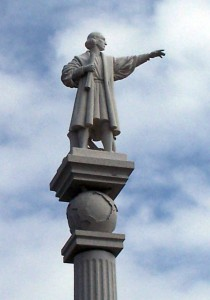 Estatua de Christopher Columbus en Maspalomas en Gran Canaria