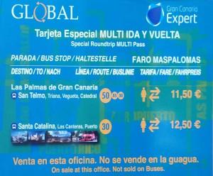 Global Las Palmas - Speciaal tarief heen en terug