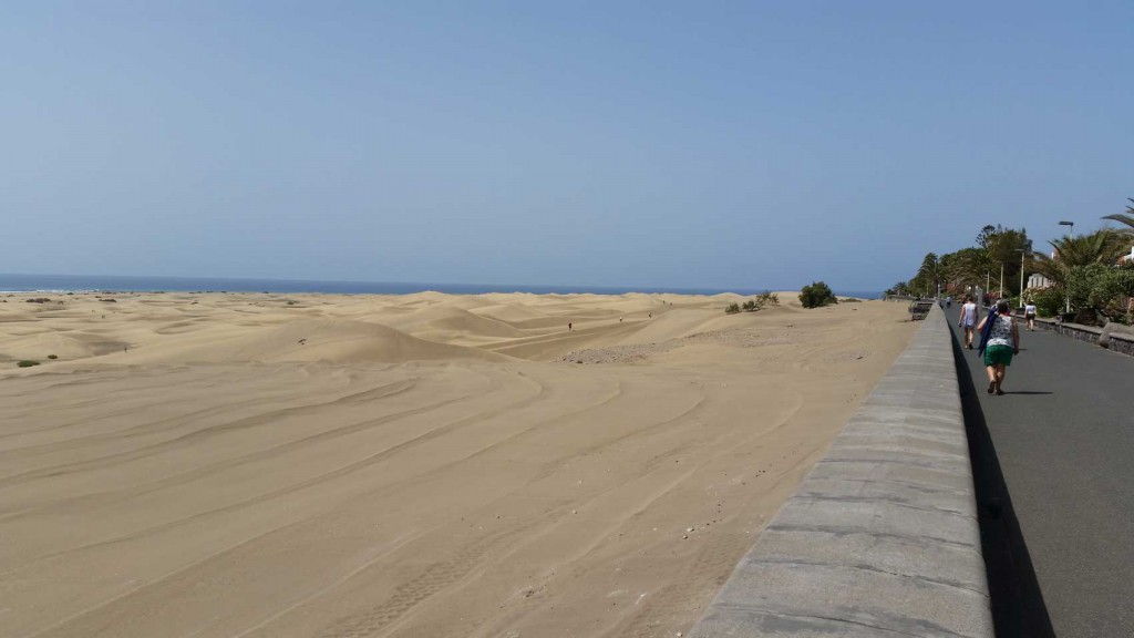 The Maspalomas dunes are a tourist attraction in Gran Canaria