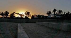 Mirador de las Dunas bij zonsondergang