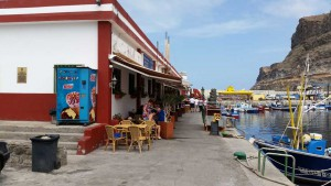 Puerto de Mogan with fishing port and fish market