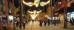 Kertsmis op de Avenida de Canarias in Vecindario
