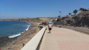 Boulevard van Maspalomas naar Meloneras strand