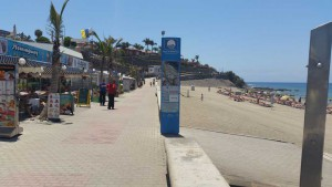 Promenade and beach of Meloneras in Gran Canaria