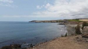 Zicht op strand van Meloneras en Pasito Blanca