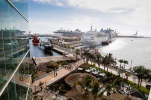 Cruiseschepen in Puerto de La Luz in Las Palmas