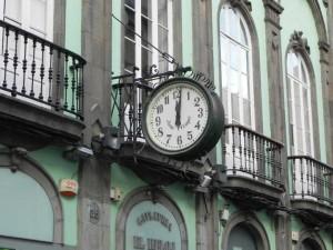 Historische gevels in Calle Triana in Las Palmas
