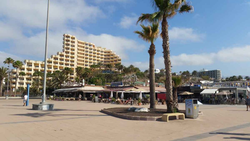 Playa del Ingles on the Canary island of Gran Canaria
