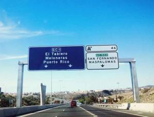 Autosnelweg naar El Tablero op Gran Canaria