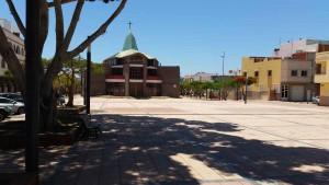 Plaza central en El Tablero