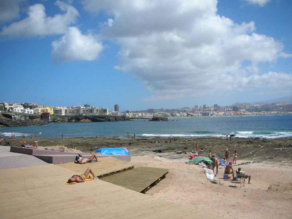 Nudist beach El Confital Gran Canaria