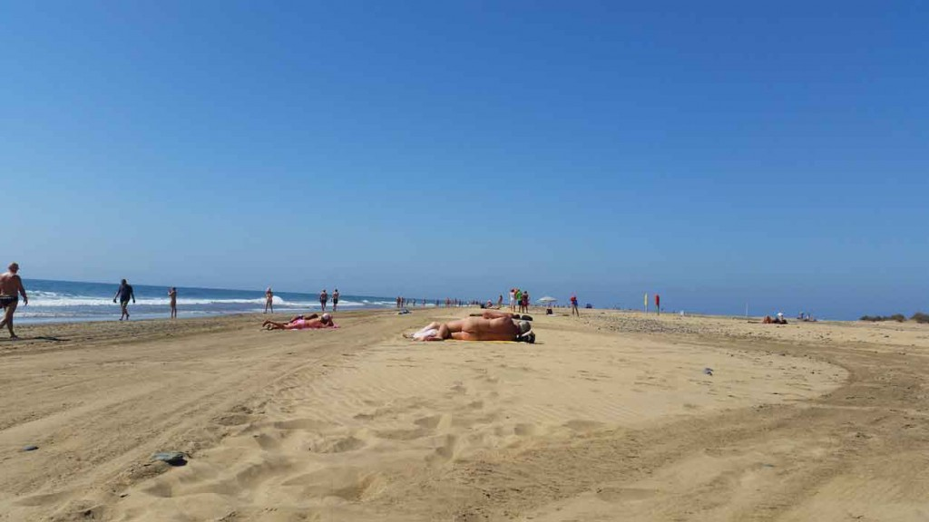 Nudist beach of Playa del Ingles